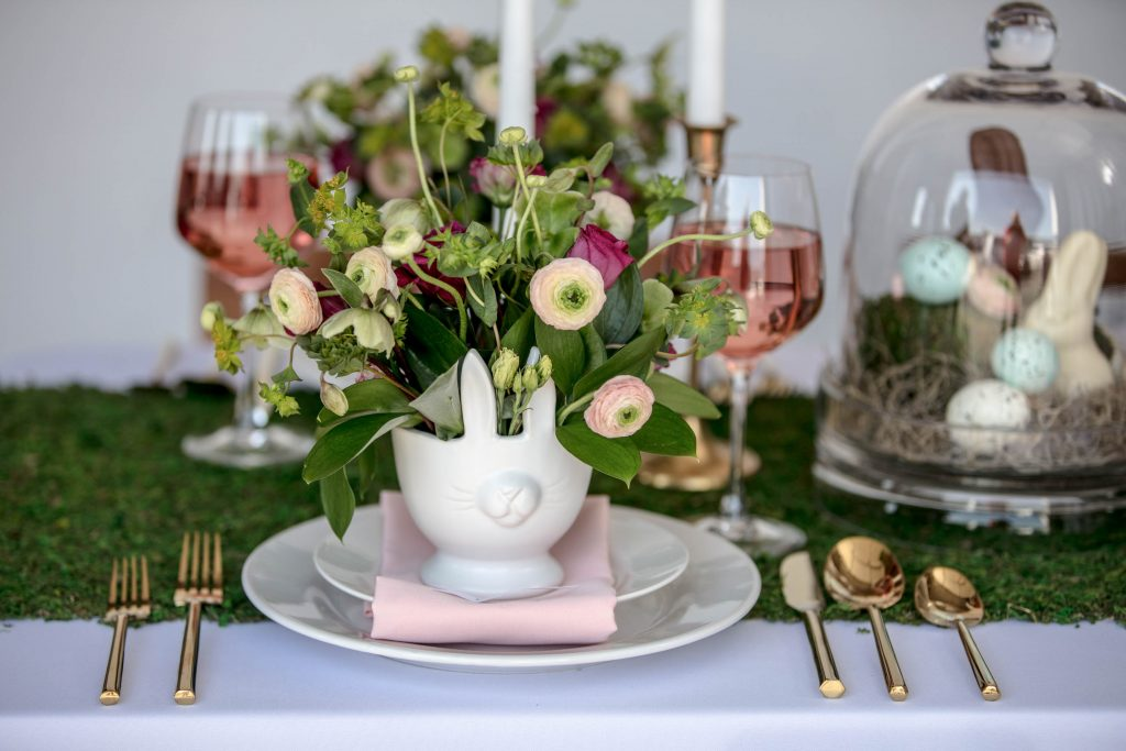 Easter Dinner Tablescape