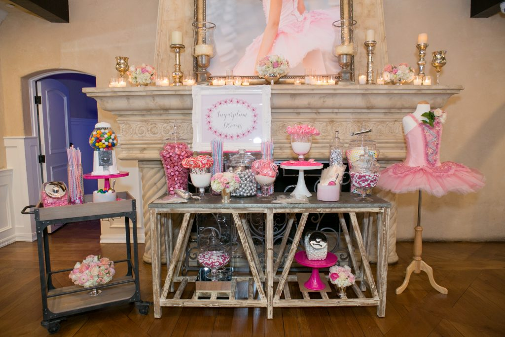 pink candy station
