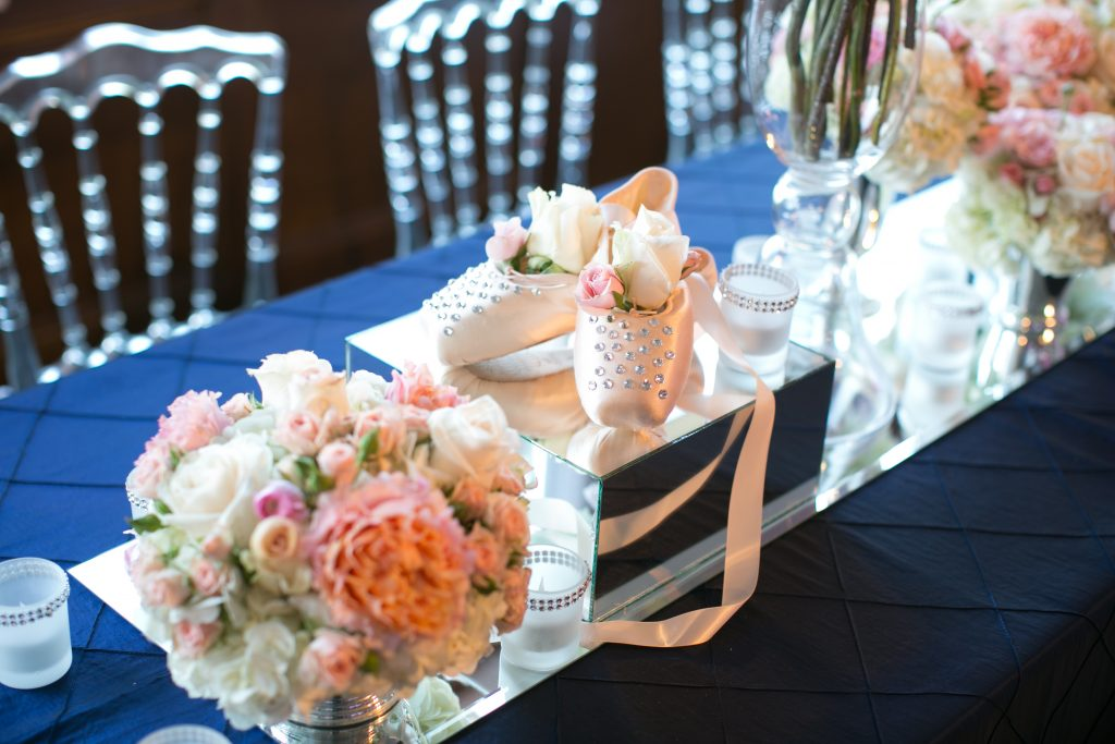 pointe shoes centerpiece